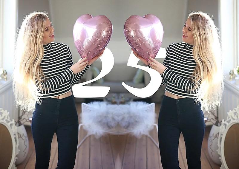 krist.in bursdag 25 år ballonger rosa
