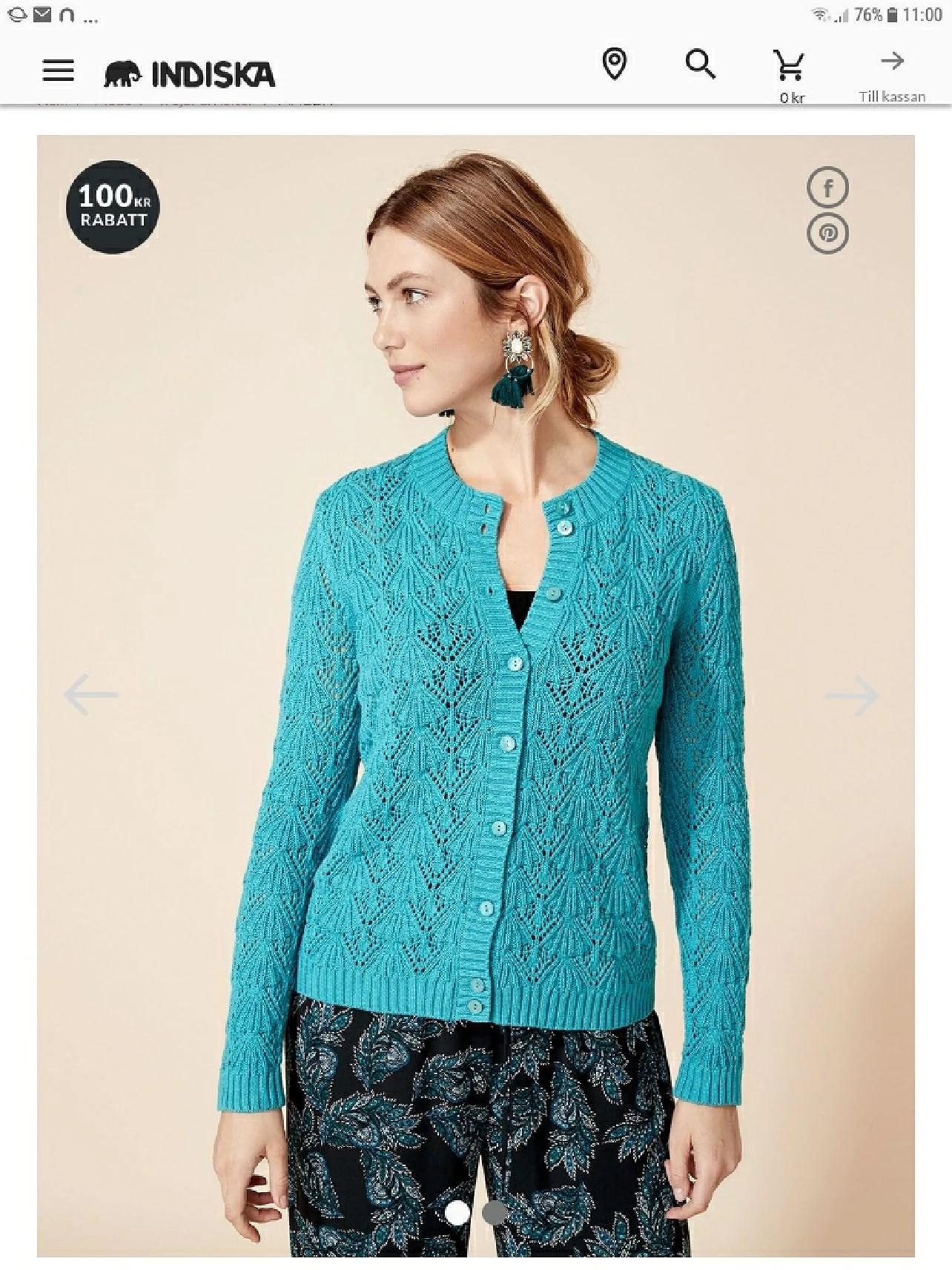 Indiska 100kr-300kr  rabatt på stickat mode