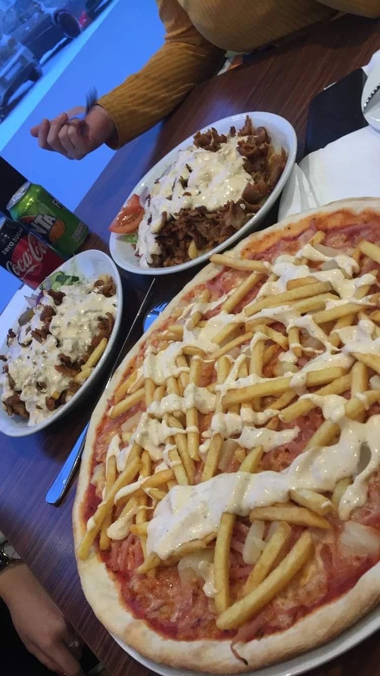 Pizza och kebab