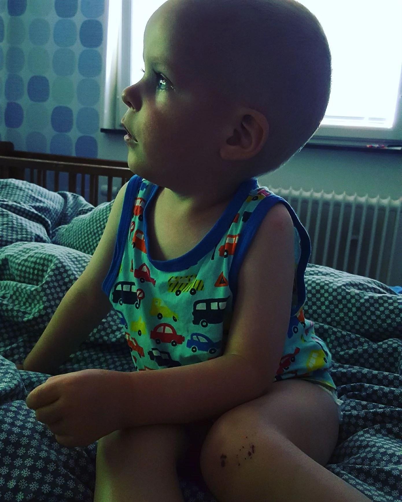 Barnen sjuka