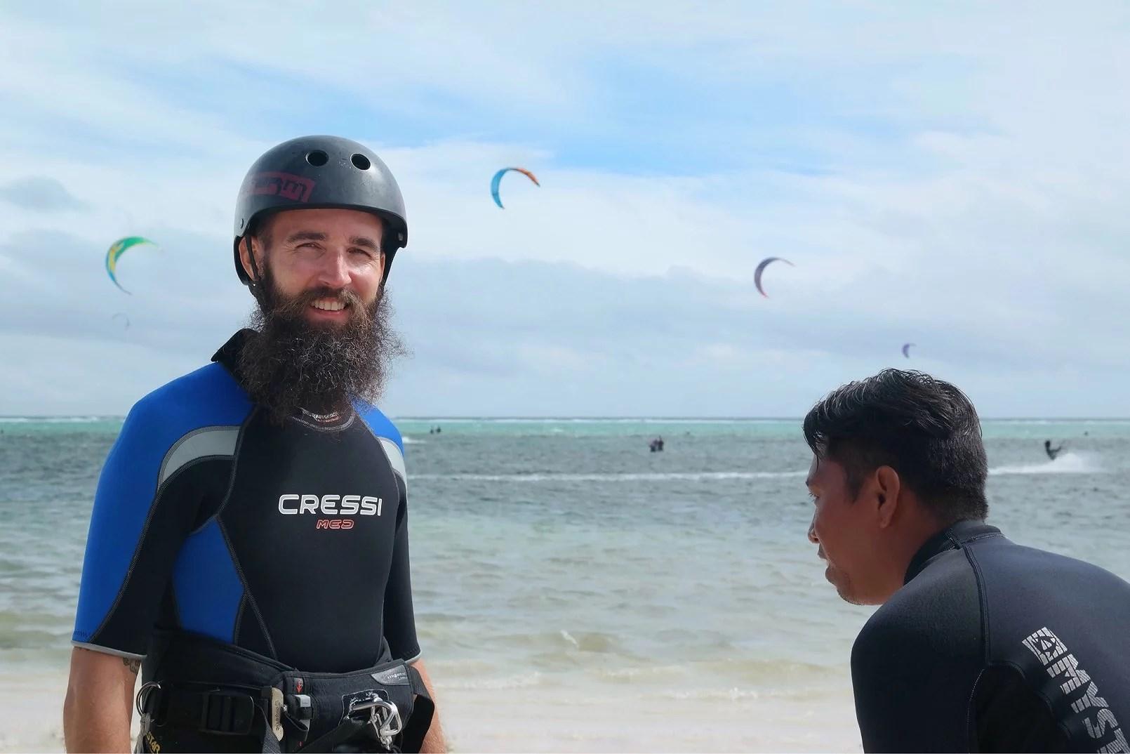 Kitesurf eller flyga drake?