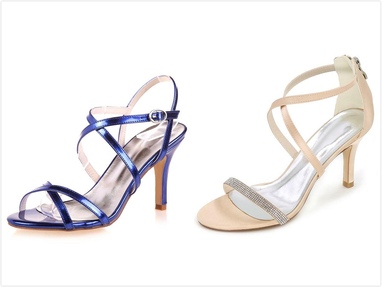 sandales de mariage colorées à talon haut
