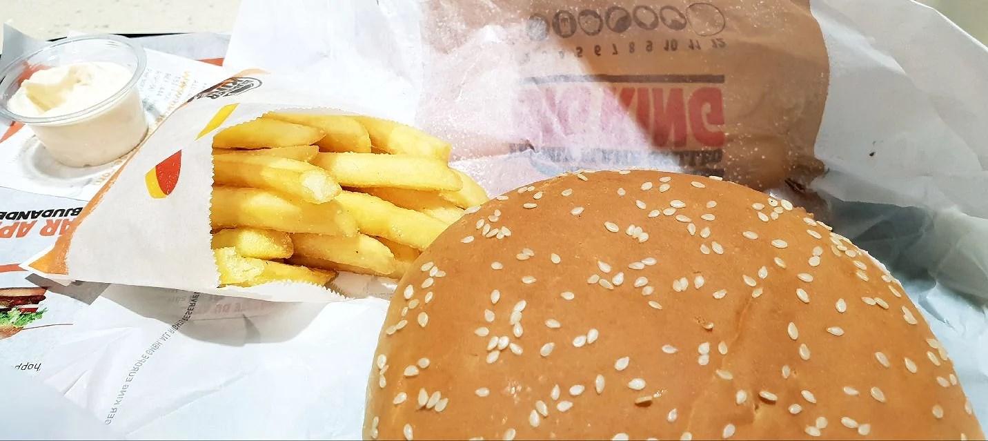 Middag på Burger King