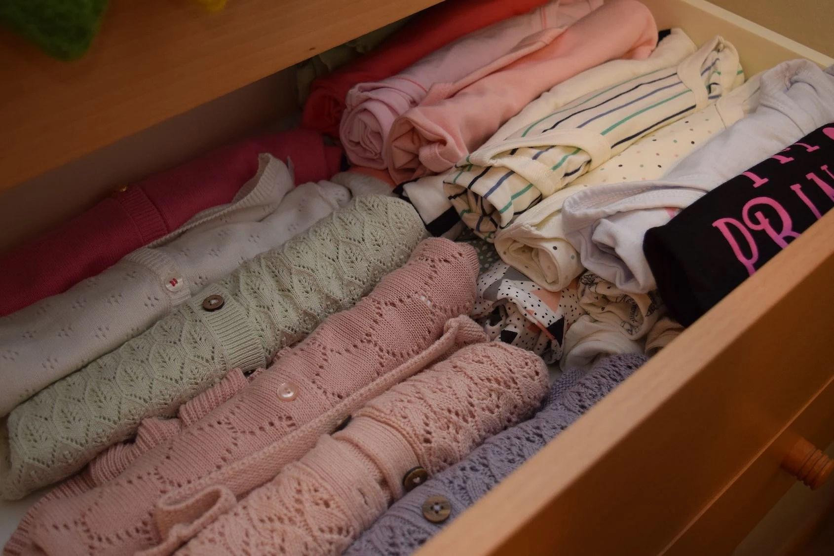 Smart förvaring av babykläder!