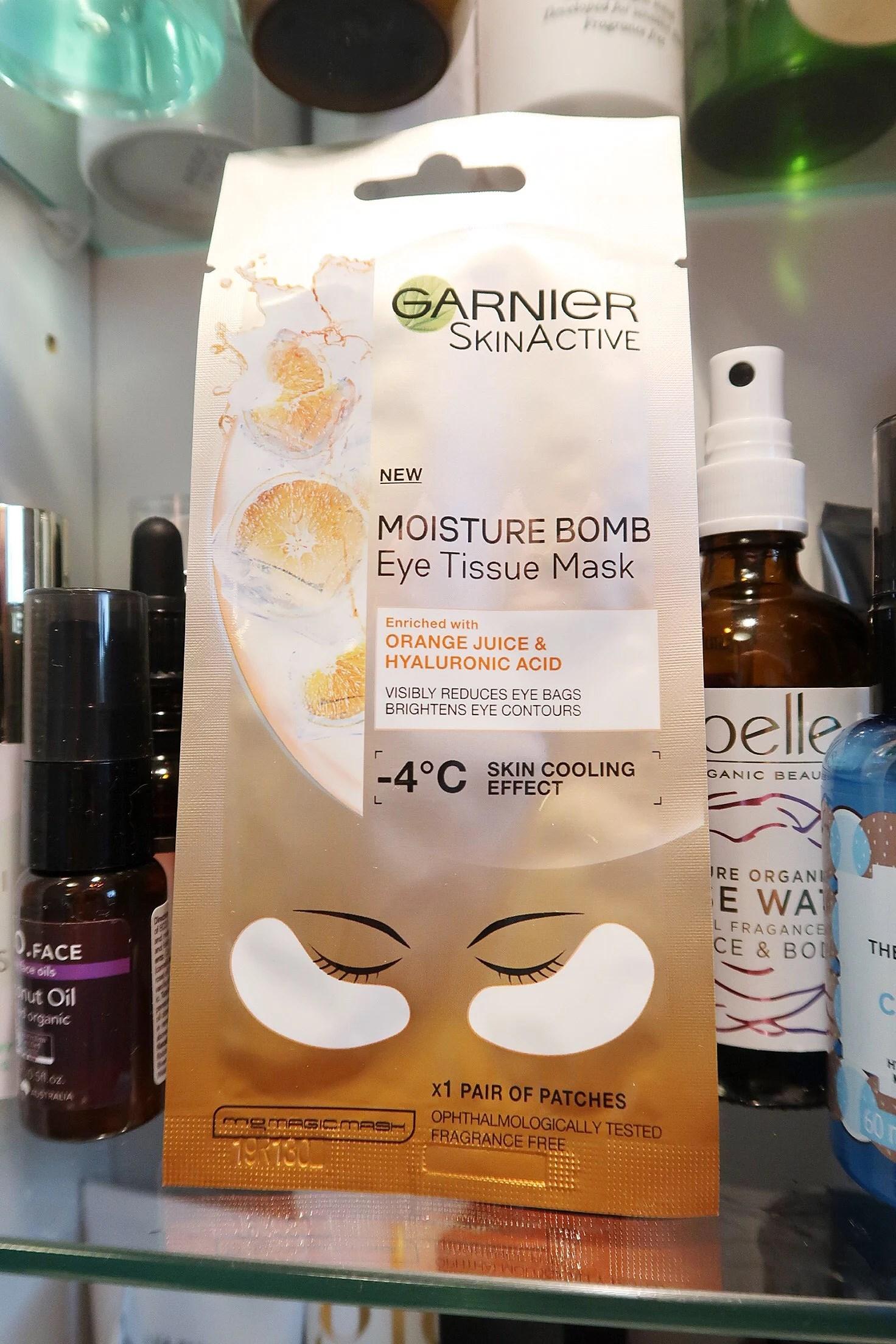 Garnier - Moisture bomb eye tissue mask!