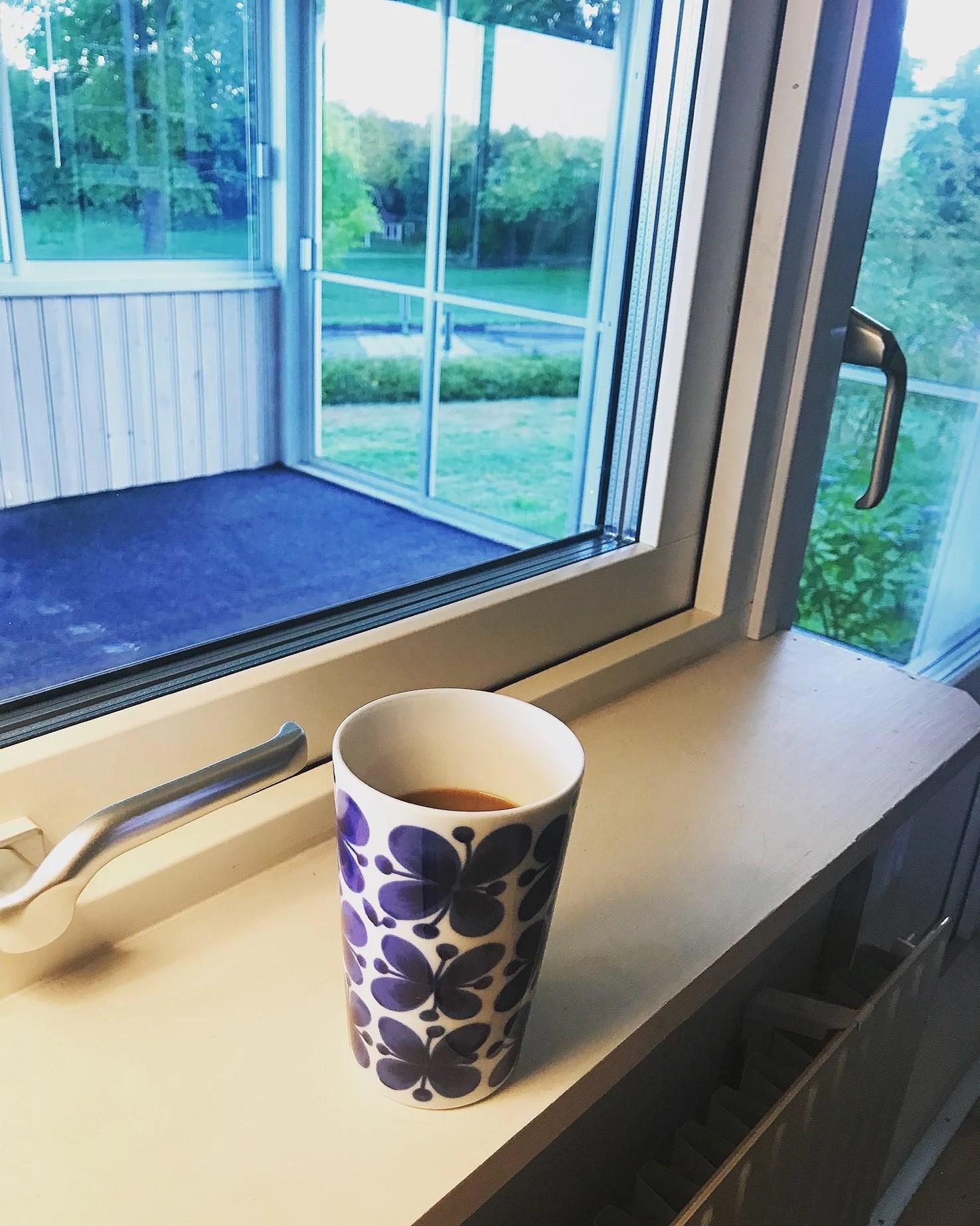 Godmorgon från vårt nya hus
