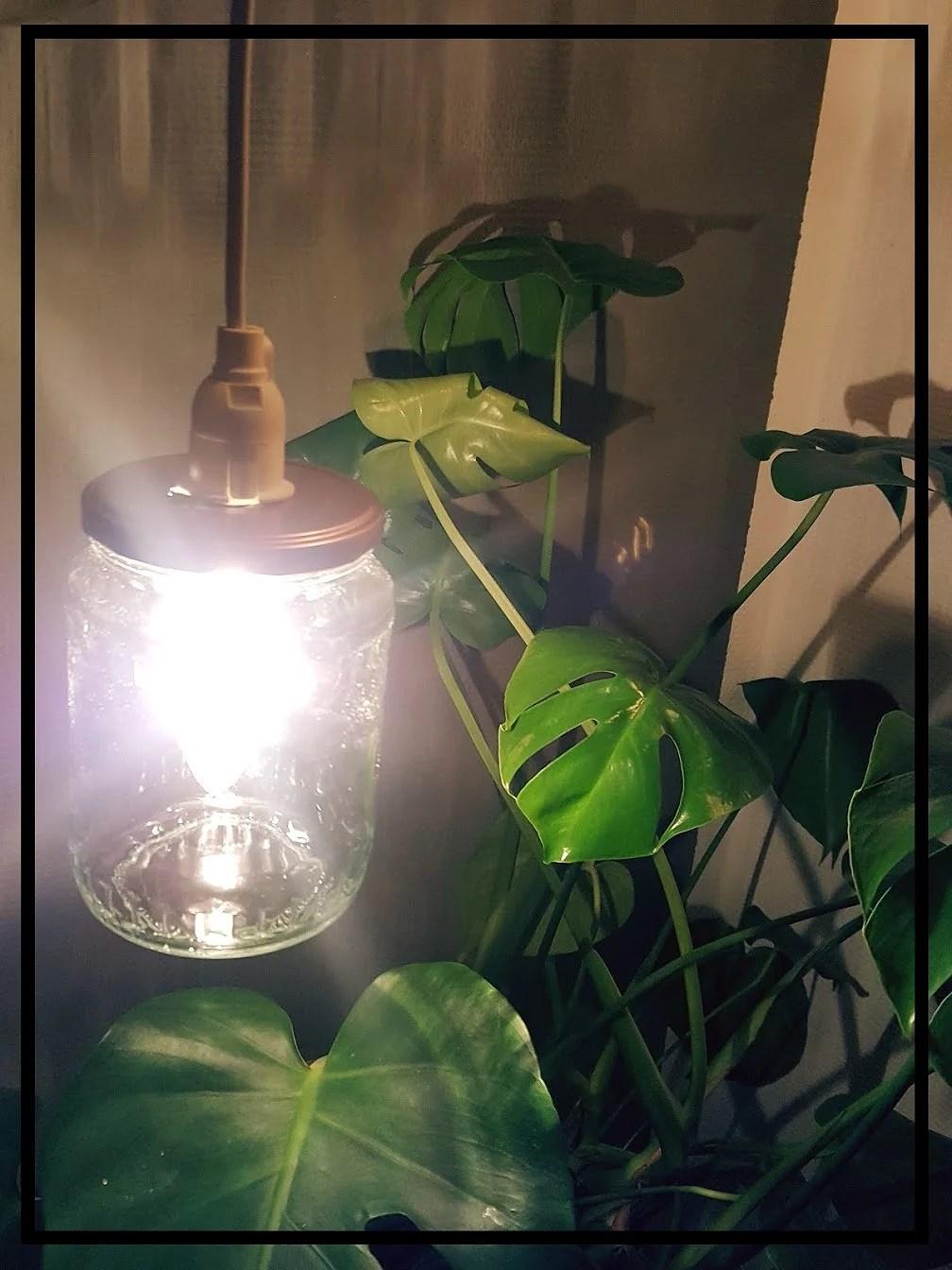 GenbrugsGlaskrukke #9 - Lampe