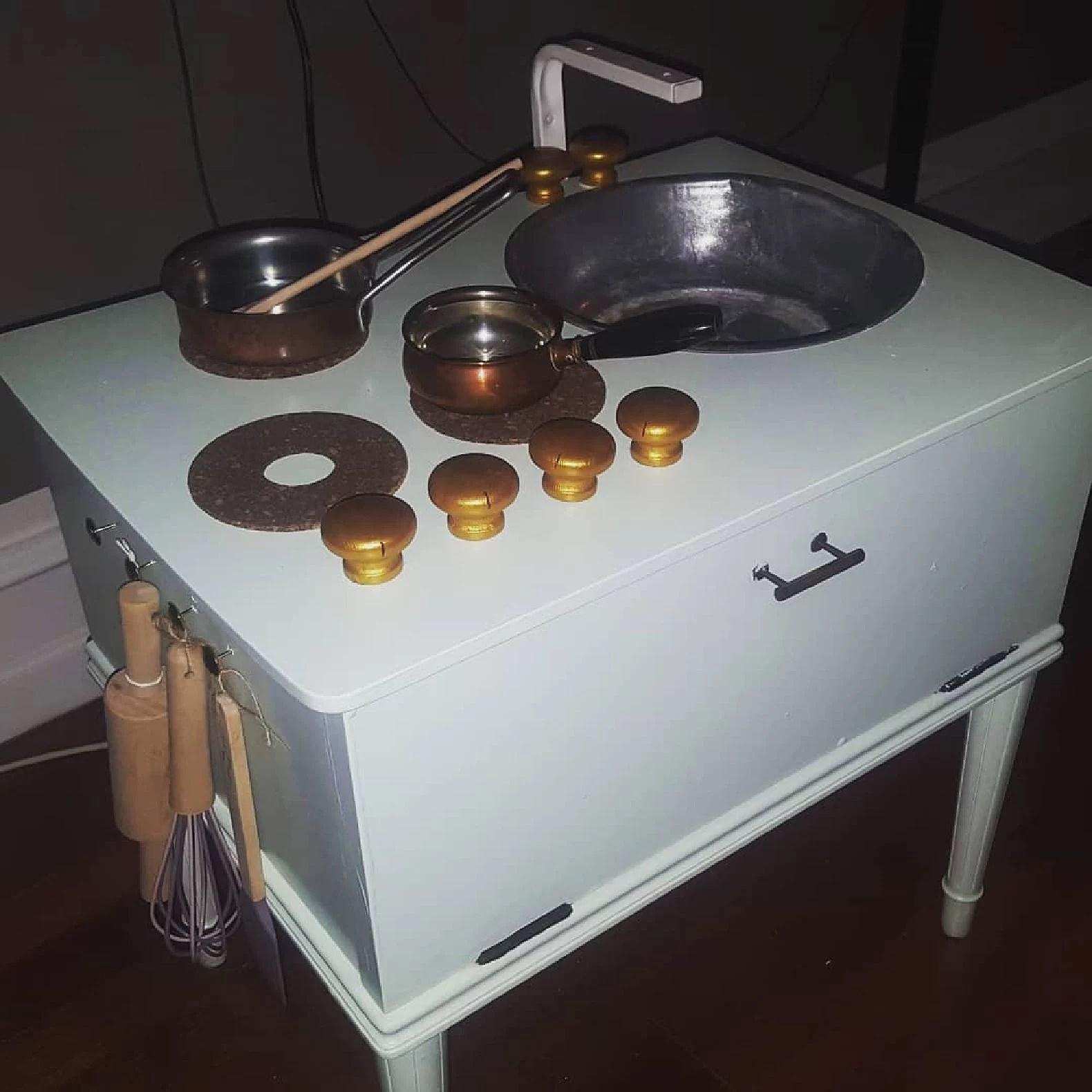 Legekøkken med håndvask