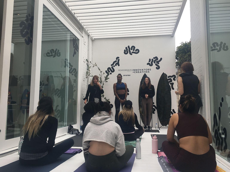 Yoga Saturday at Ron Robinson
