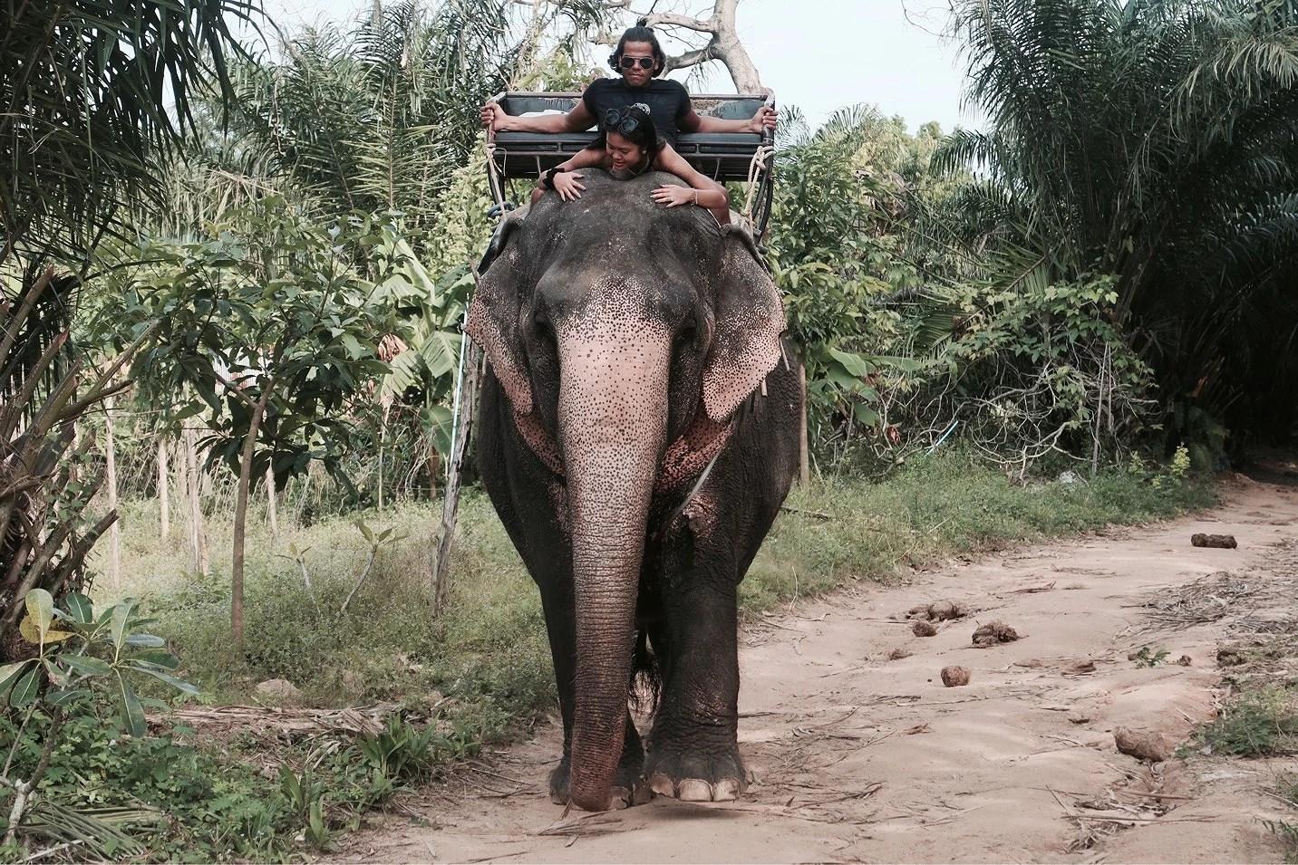 Thailand 2017 - Elephant trekking & Na Muang Waterfall