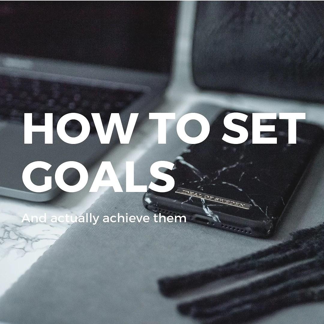 Så sätter du upp mål för 2019