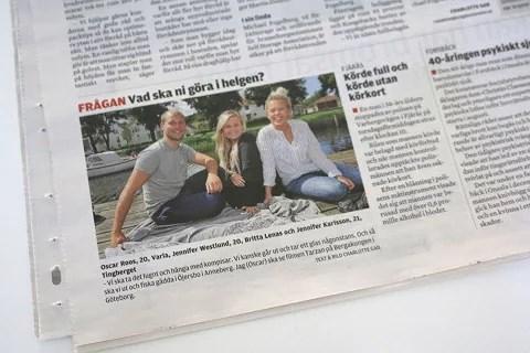 I tidningen osv
