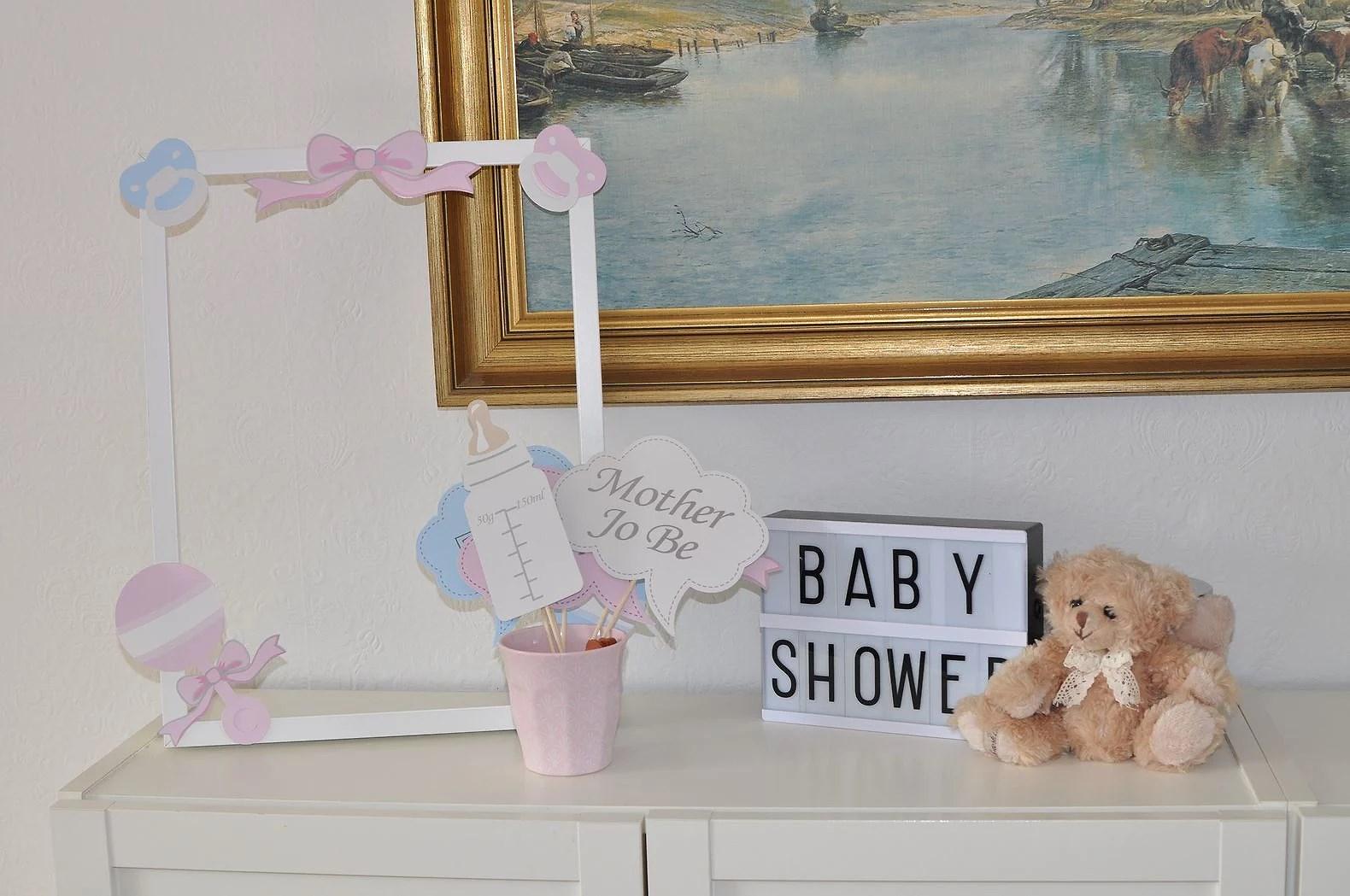 babyshower rekvisita