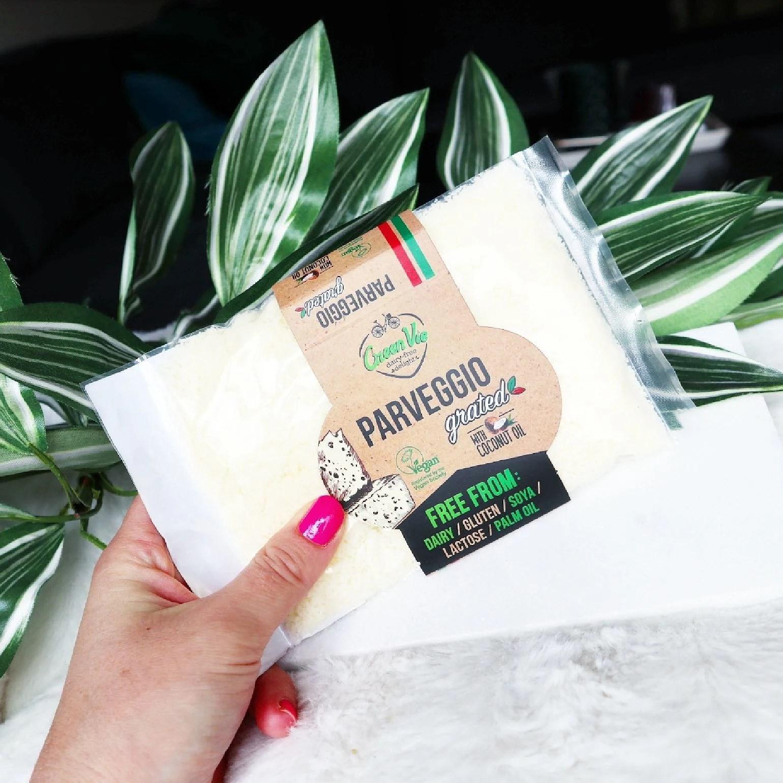 Vegansk parmesanost: Green Vie Parveggio Grated