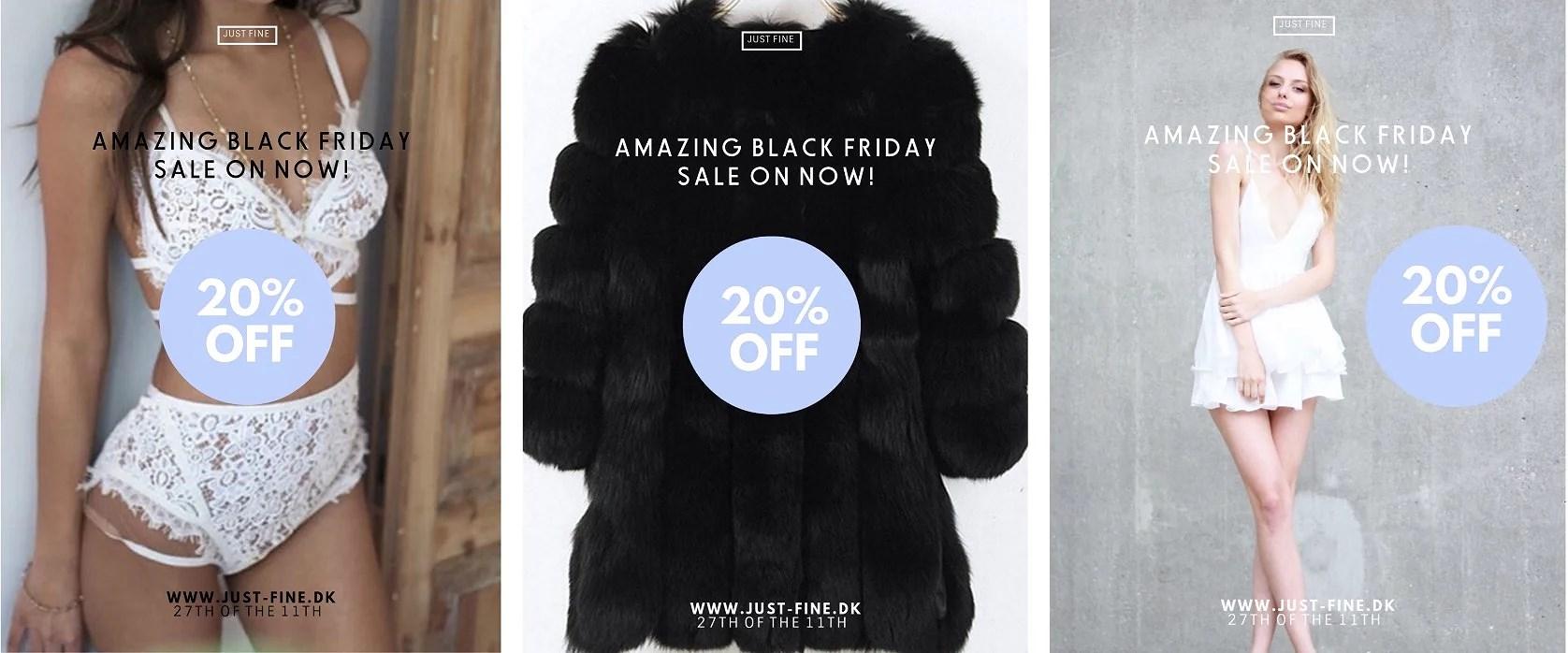 BLACK FRIDAY: 20% PÅ HELE SORTIMENTET HOS JUST FINE