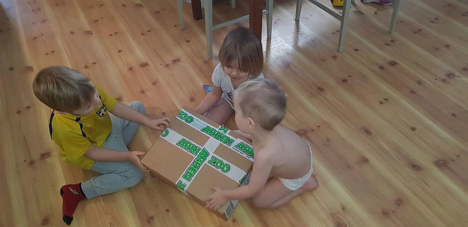Paket leverans