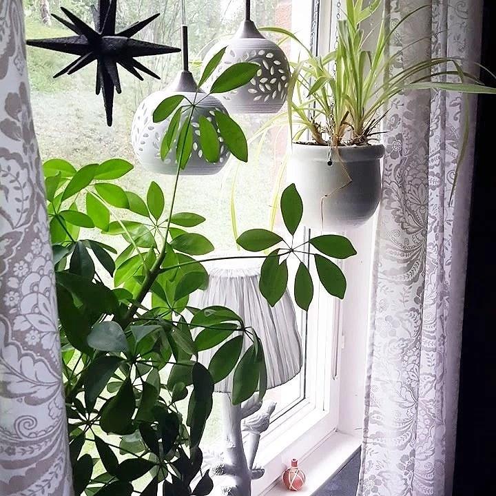 Nya gardiner i sovrummet
