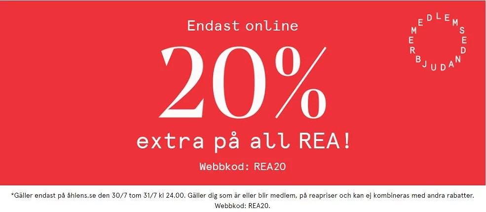 20% extra på Åhléns rea