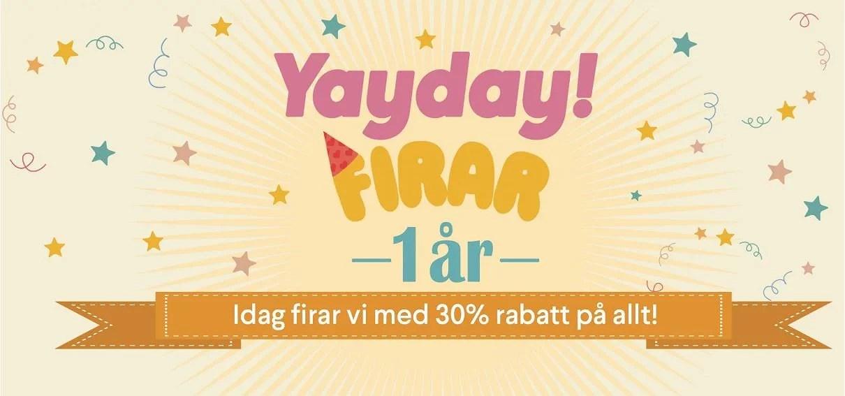 30% rabatt hos Yayday