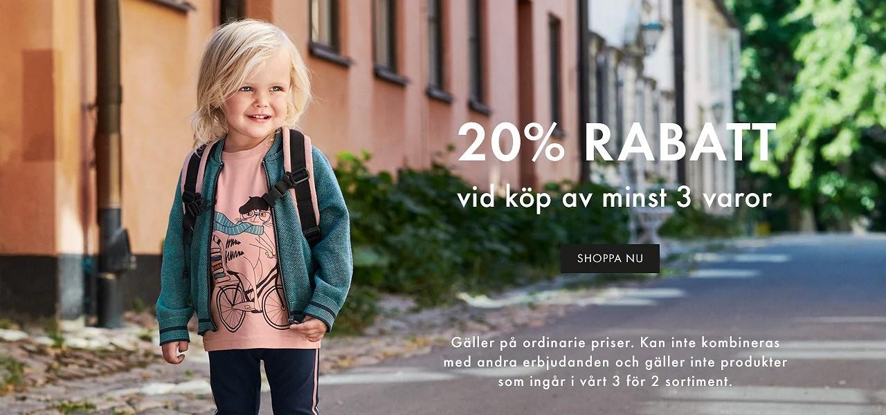 20% på ett köp hos Polarn o. Pyret