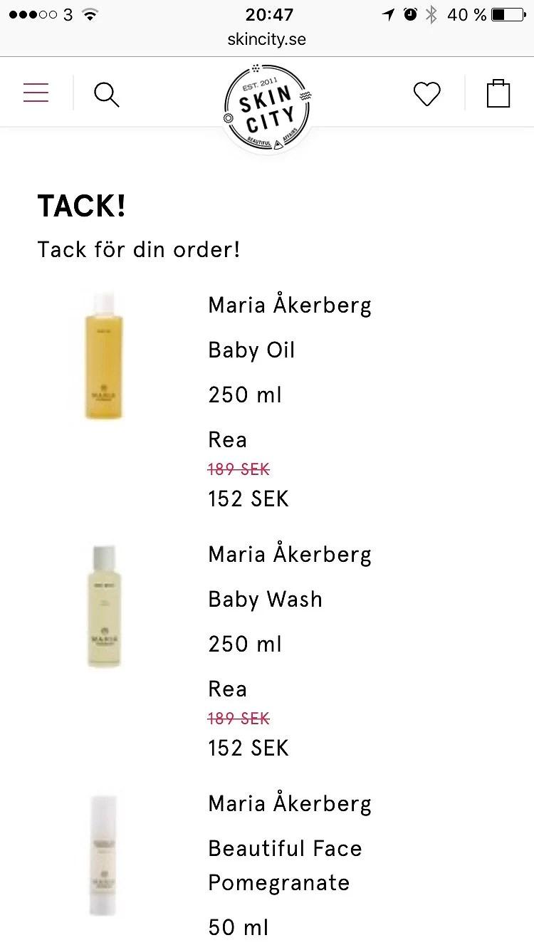20% på Maria Åkerberg
