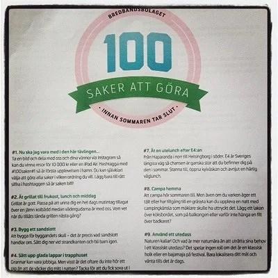 #100saker