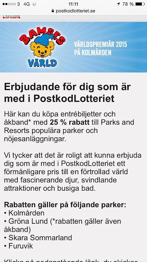 Rabatt På Kolmården Gröna Lund Och Skara Sommarland Stonetag