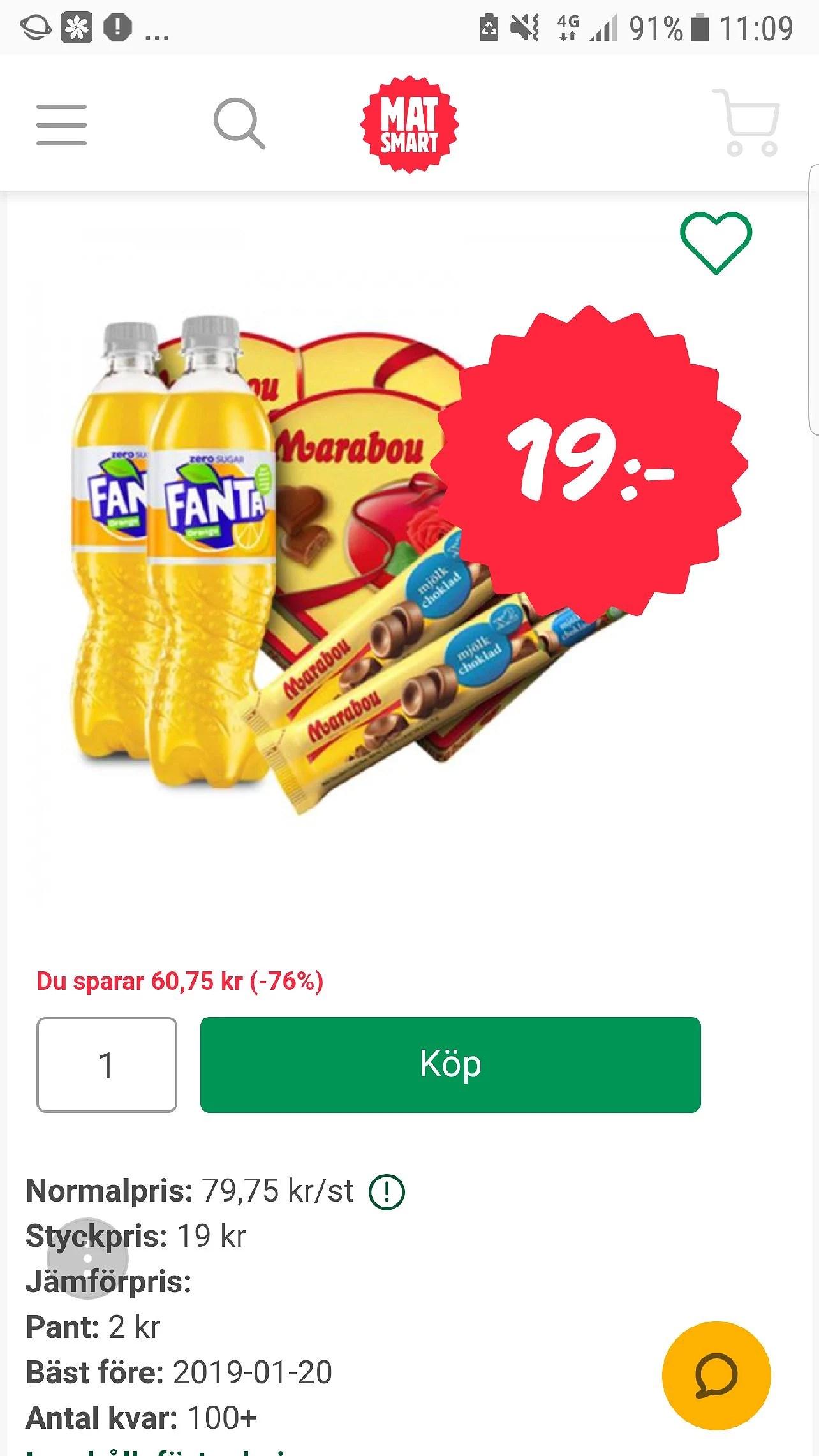 Matsmart grattis boxen för bara 19kr
