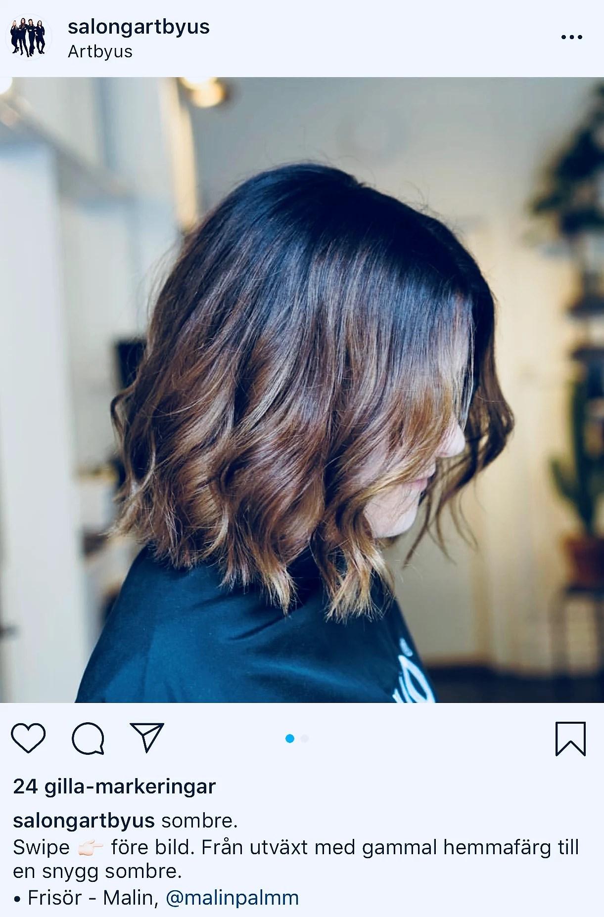 Före och efter på mitt hår