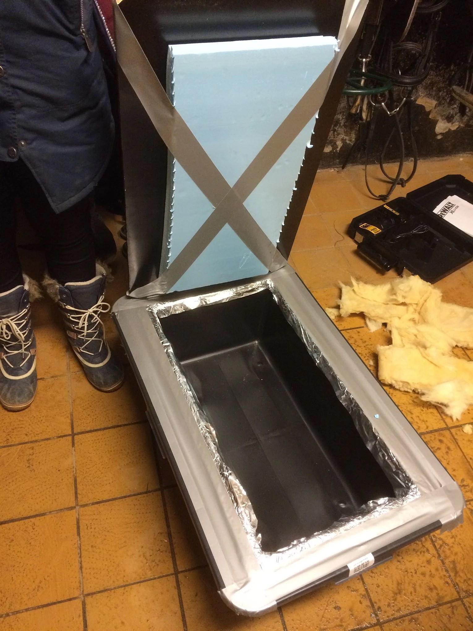 Vattenhink där vattnet INTE fryser