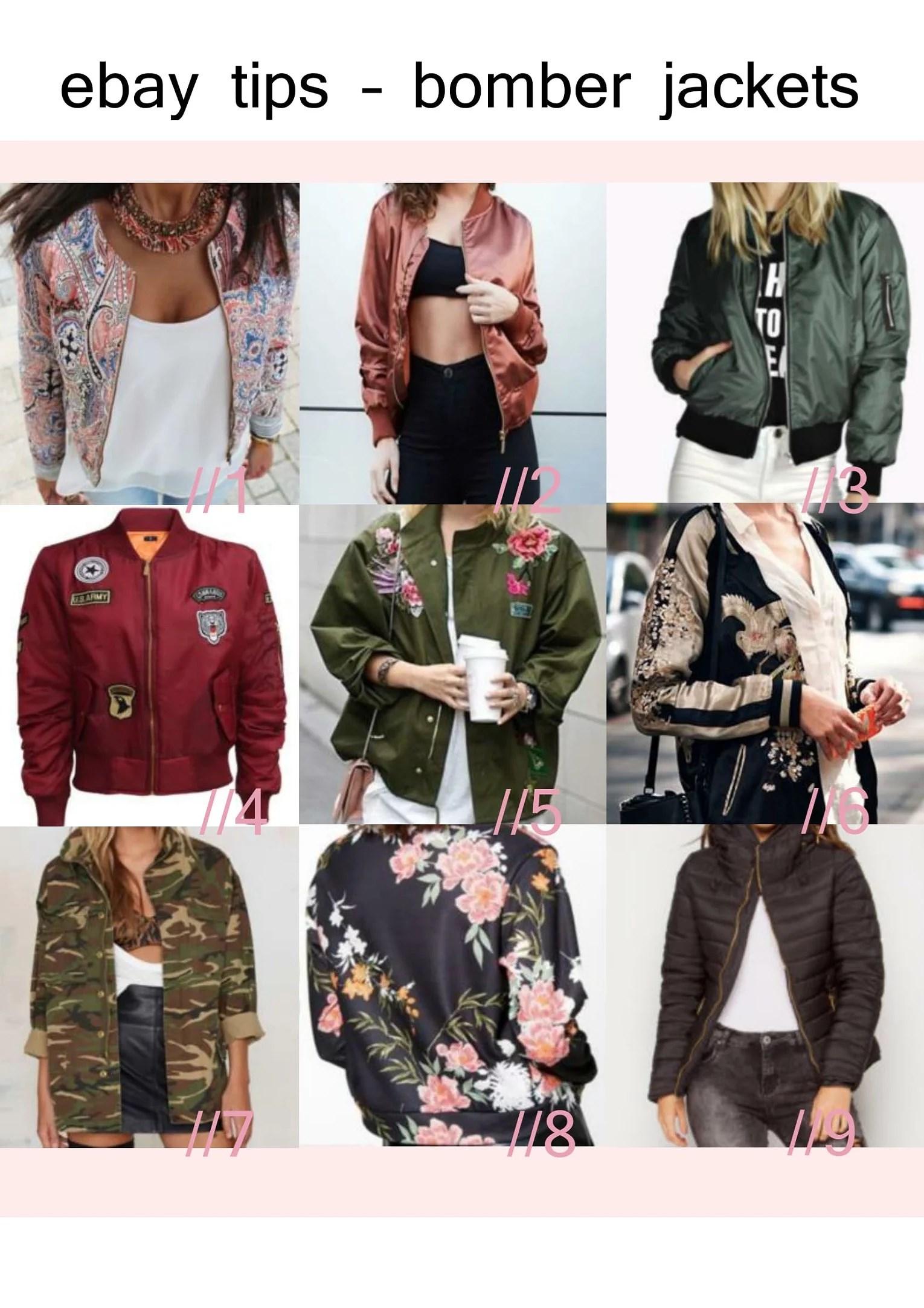 eBay tip - bomber jackets