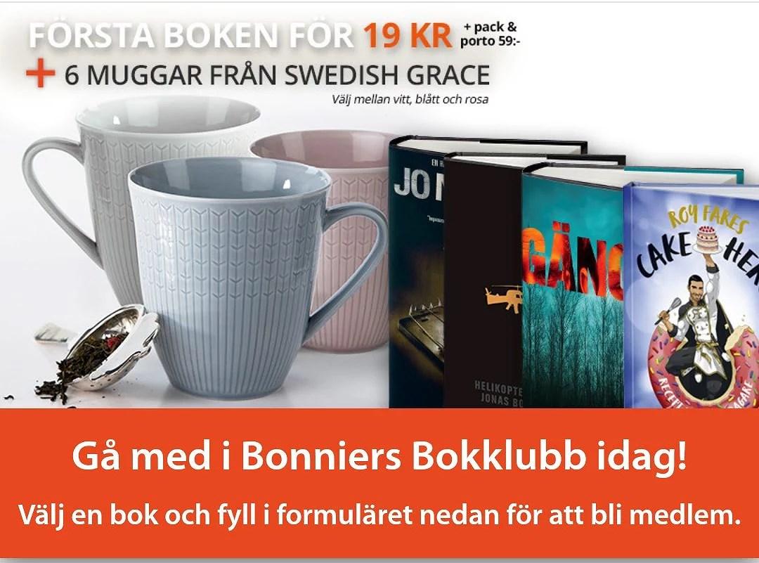 bonniers bokklubb swedish grace erbjudande