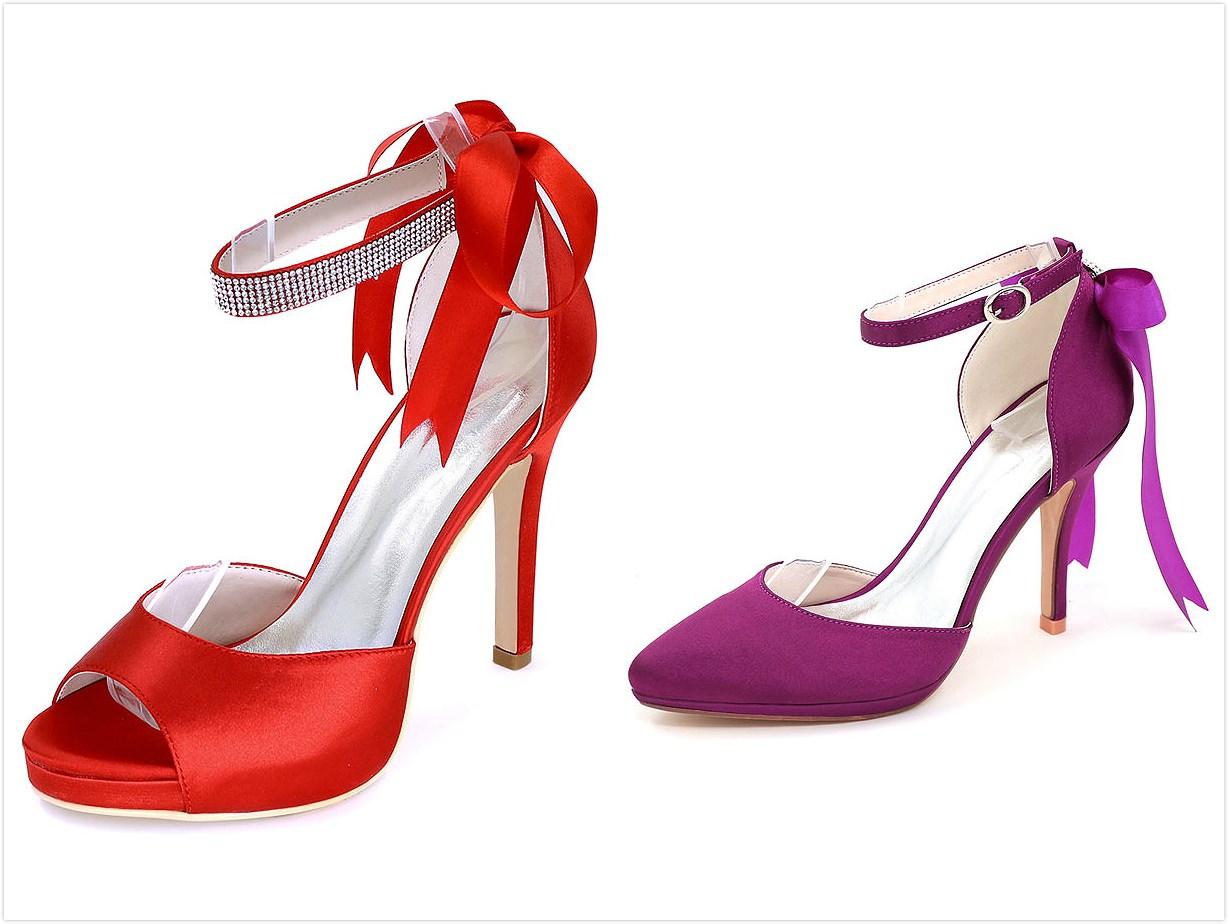 chaussures de mariage colorées à talon haut