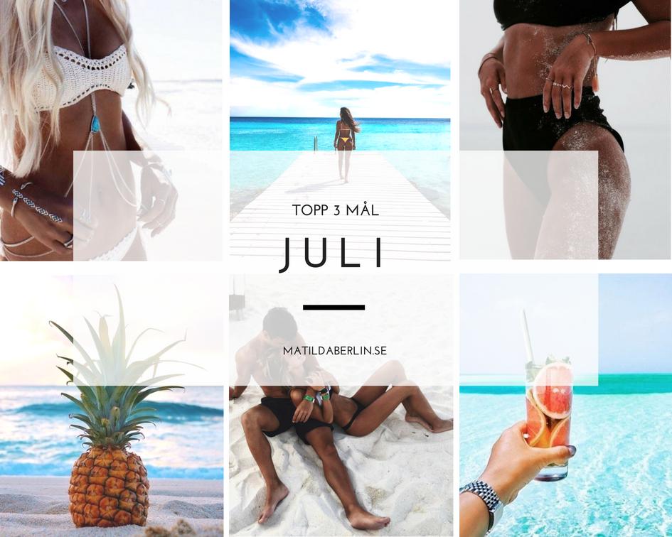 Topp 3 mål i Juli