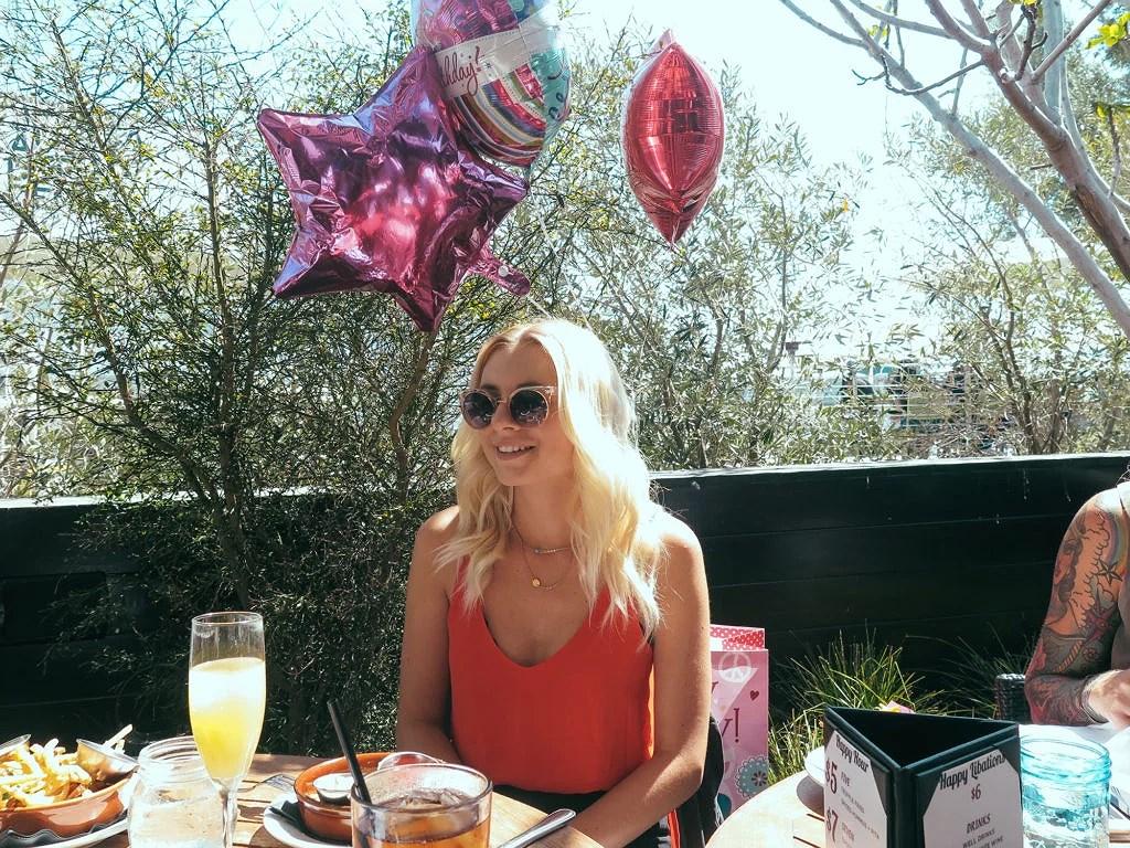 Birthday brunch in Santa Monica