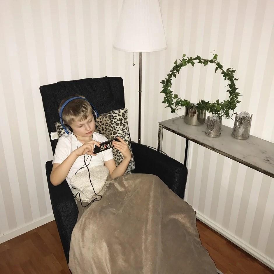 Den nya myshörnan i vardagsrummet