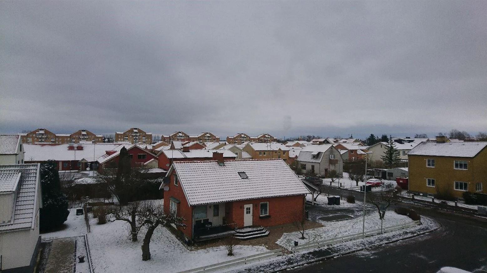 Snö och lördagens planer