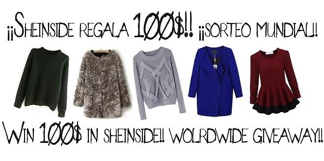 CERRADO...Sheinside 100$ Worldwide Giveaway!! / ¡Sorteo 100$ Mundial!...