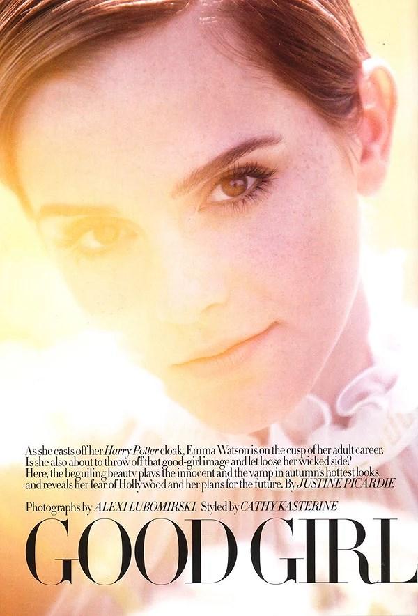 Emma Watson para Harper's Bazaar Agosto