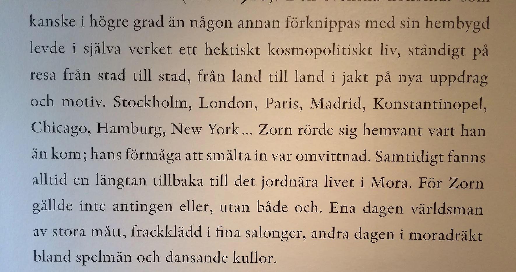 Anders Zorn levde i mellanförskapet!