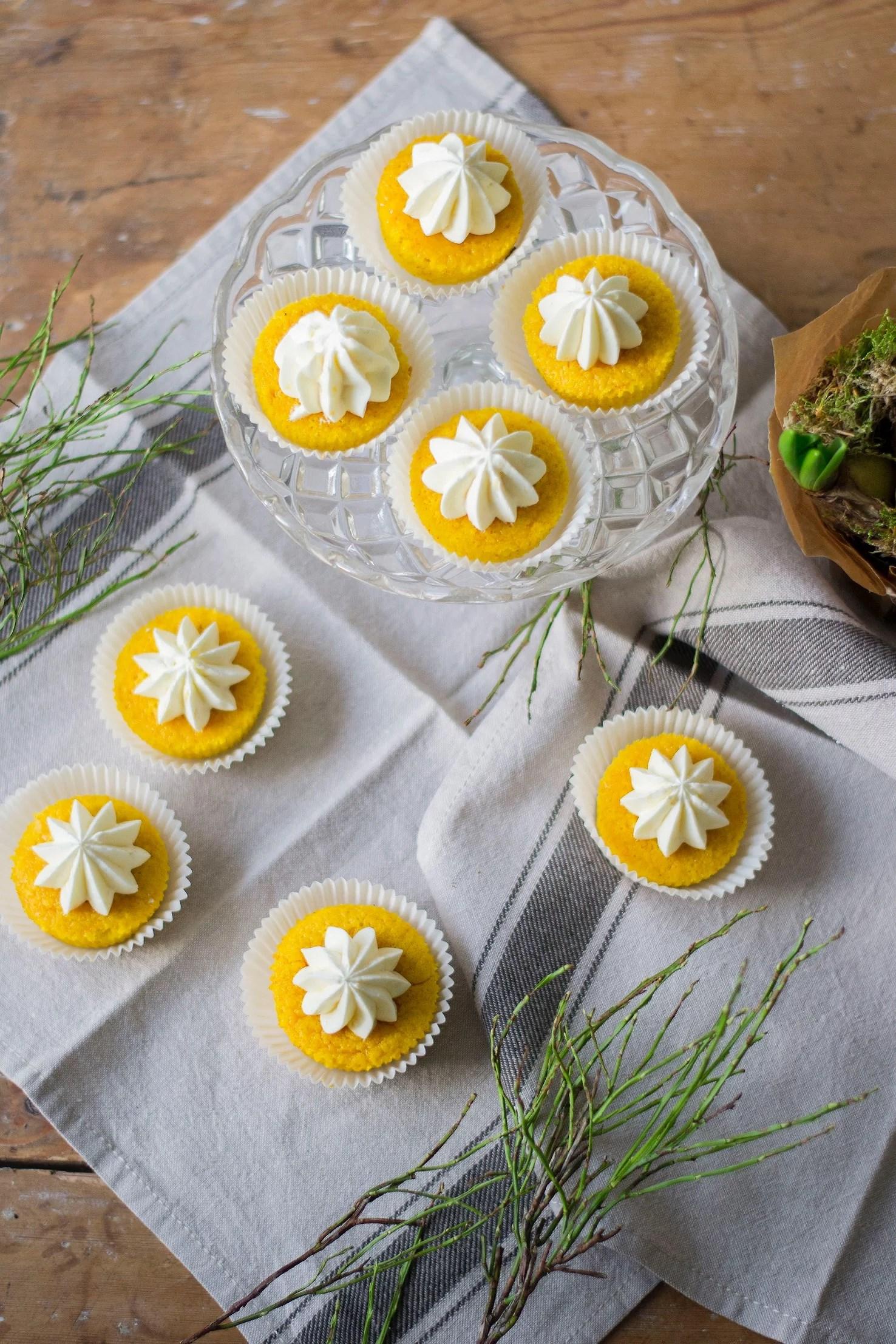 Saffransmuffins med citronfrosting