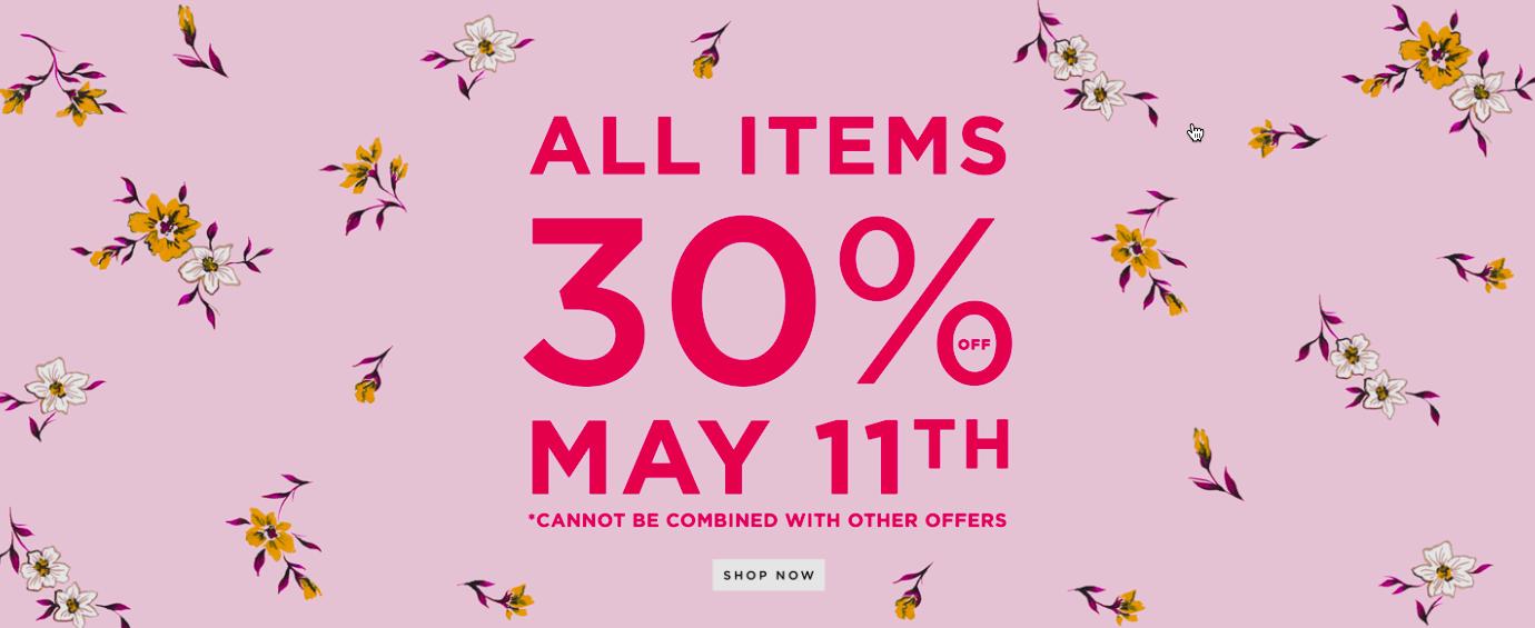 🌸 -30% i hela butiken IDAG 🌸