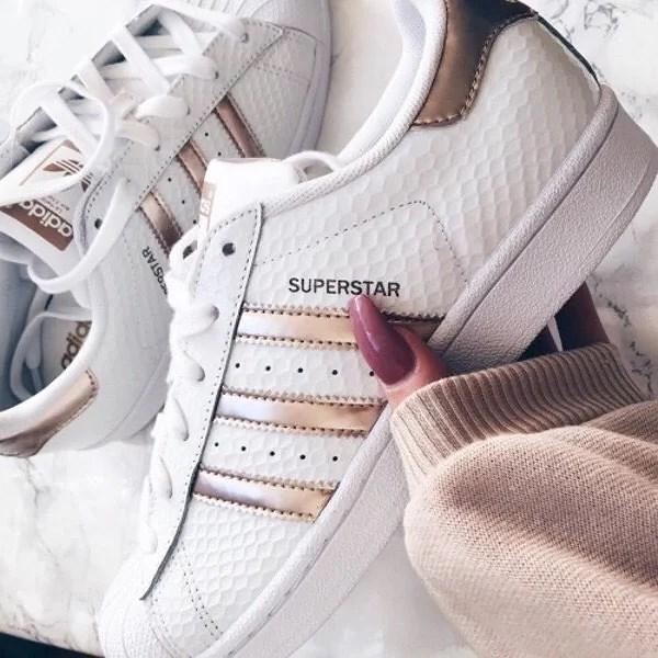 adidas skor rosa guld