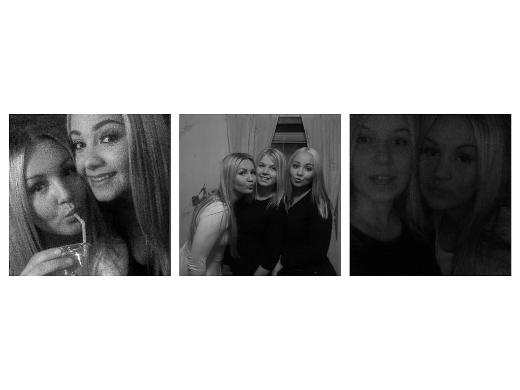 tre härliga bilder på tre härliga tjejer
