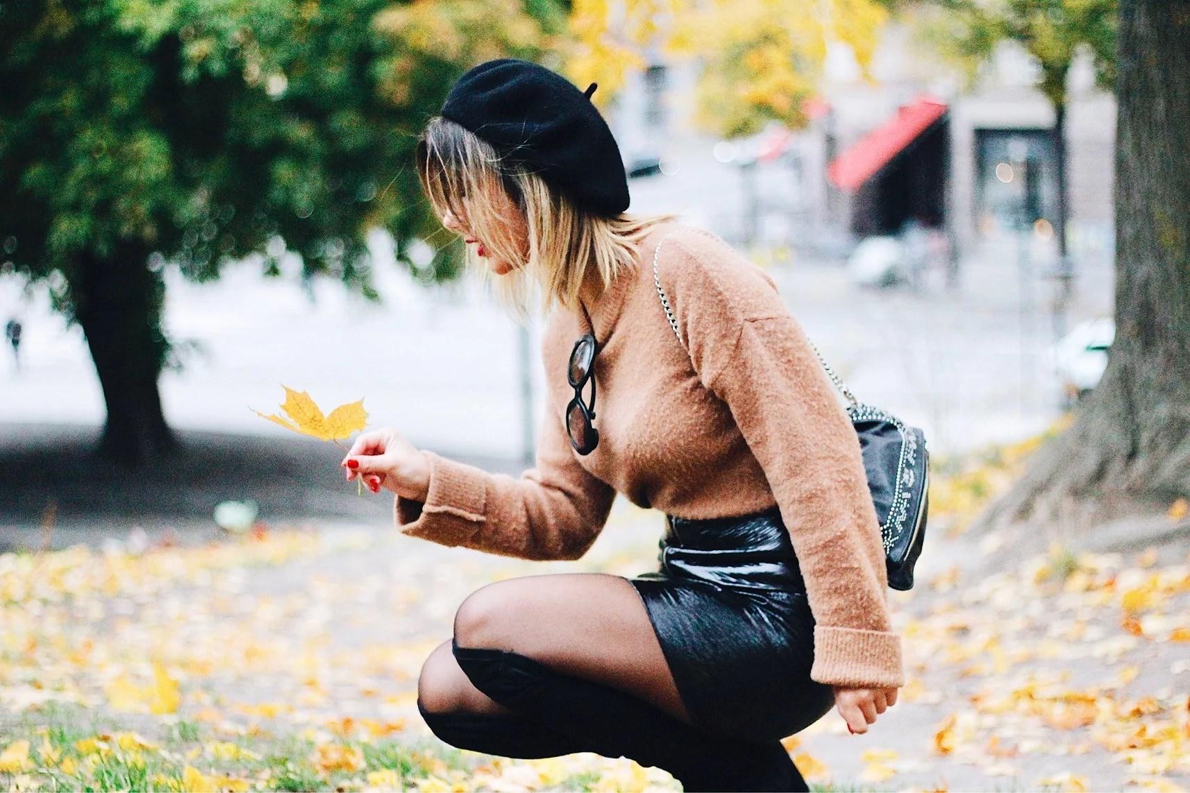 En person som älskar hösten