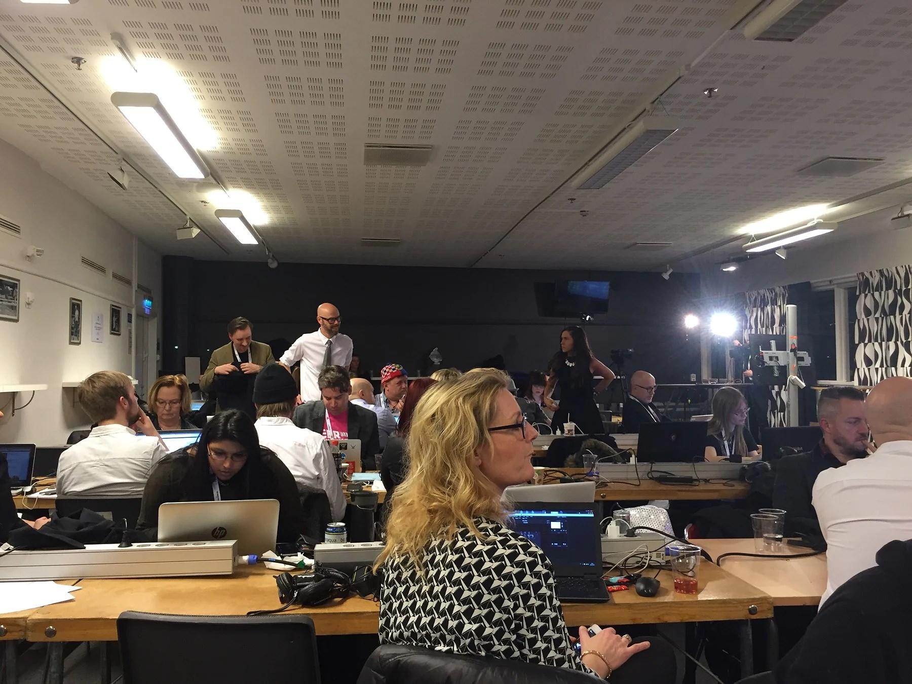 Pressrummet på Melodifestivalen 2016