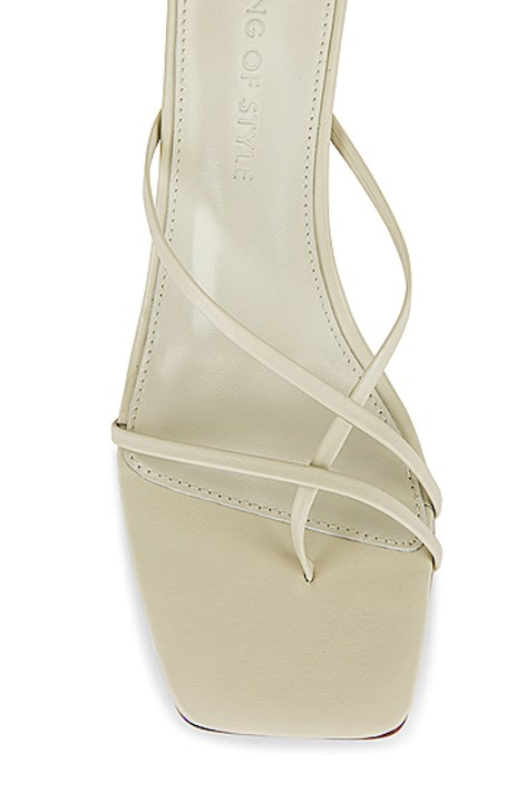 SONG OF STYLE, GEOMEGRIC SANDAL, LINES, WHITE SANDAL