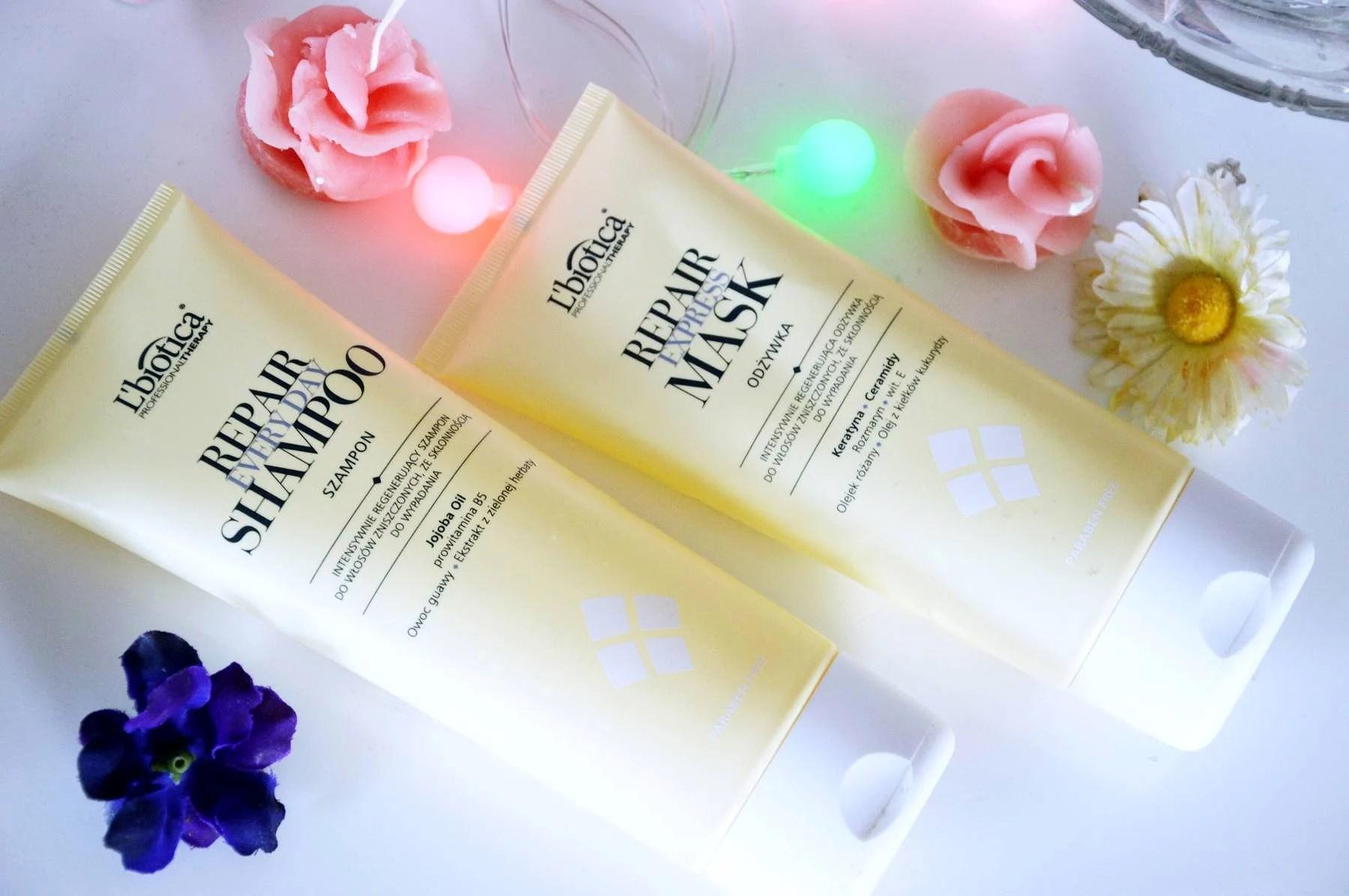 Professional therapy repair - szampon i odżywka. L'Biotica.