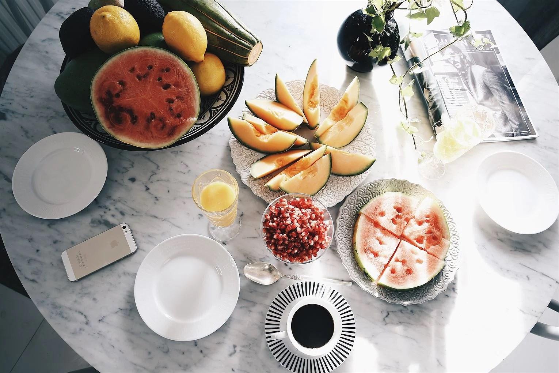 hälsa frukt frukost rawfood