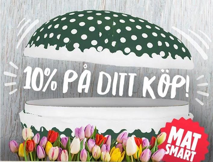 10% rabatt hos Matsmart med rabattkod